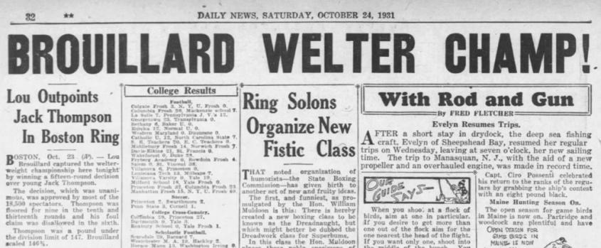 NY Daily News 24 oct. 1931
