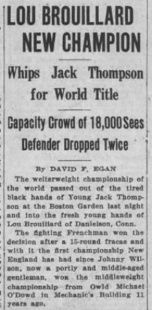 The Boston Globe première page 24 oct. 1931