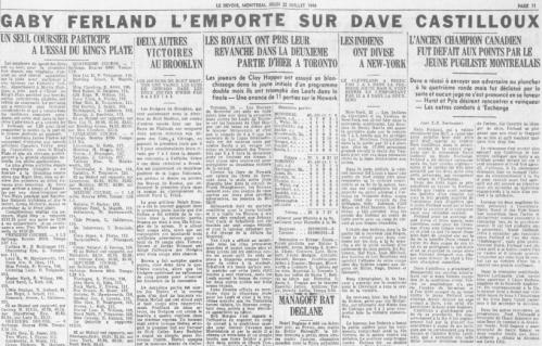6. Le Devoir 22 juillet 1948